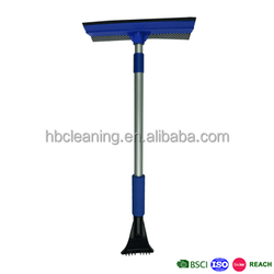 3 in 1 aluminum handle wiper squeegee for floor, window squeegee with rubber wiper