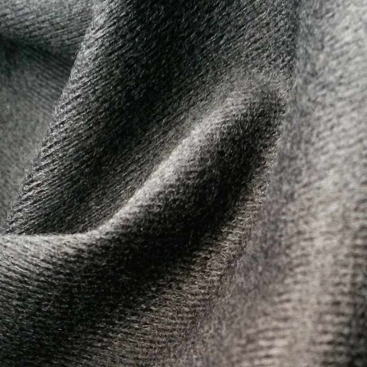 100% Polyester Brushed one side super poly tricot knitted fabric for sports wear , toys , under wear ,bags and so on