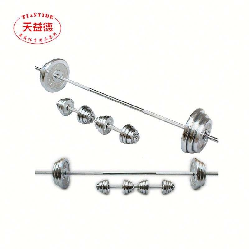 工場メーカー強度トレーニング電気めっきバーベル重量リフティング