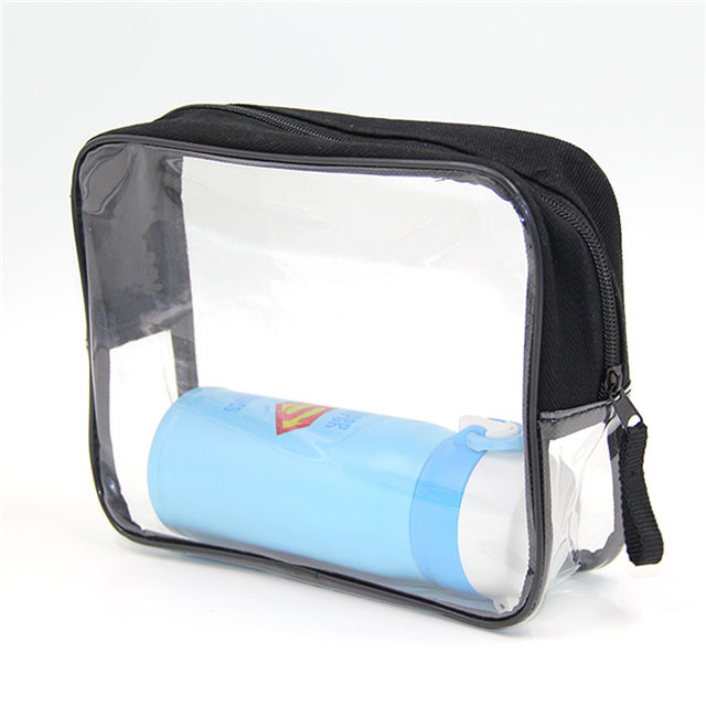 방수 custom logo geometric black 파우치 cosmetic bag pvc 대 한 여행