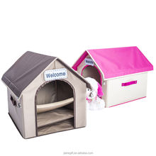 pet supplies 2styles soft fabric collapsible indoor pet house for dog