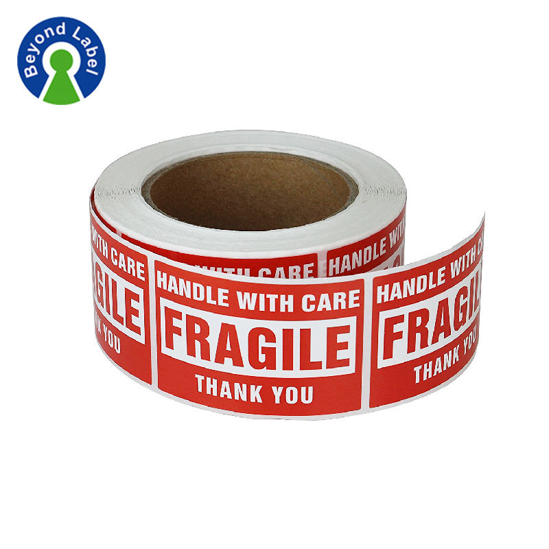 1 Roll 500 Labels 2 x 3 Permanent Adhesive Fragile Stickers Handle With Care Warning Packing Moving Box Shipping Label