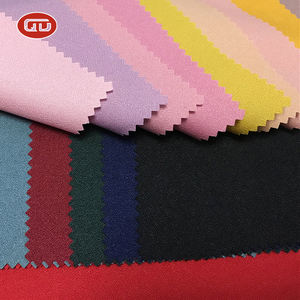 2020 new fashion design custom color 100% Polyester QD Moss Crepe fabric for overcoat