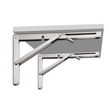 Heavy Duty 90 Degree 8-24 Inches Stainless Steel Adjustable Angle Wall Mounted Metal Table Folding Shelf Bracket