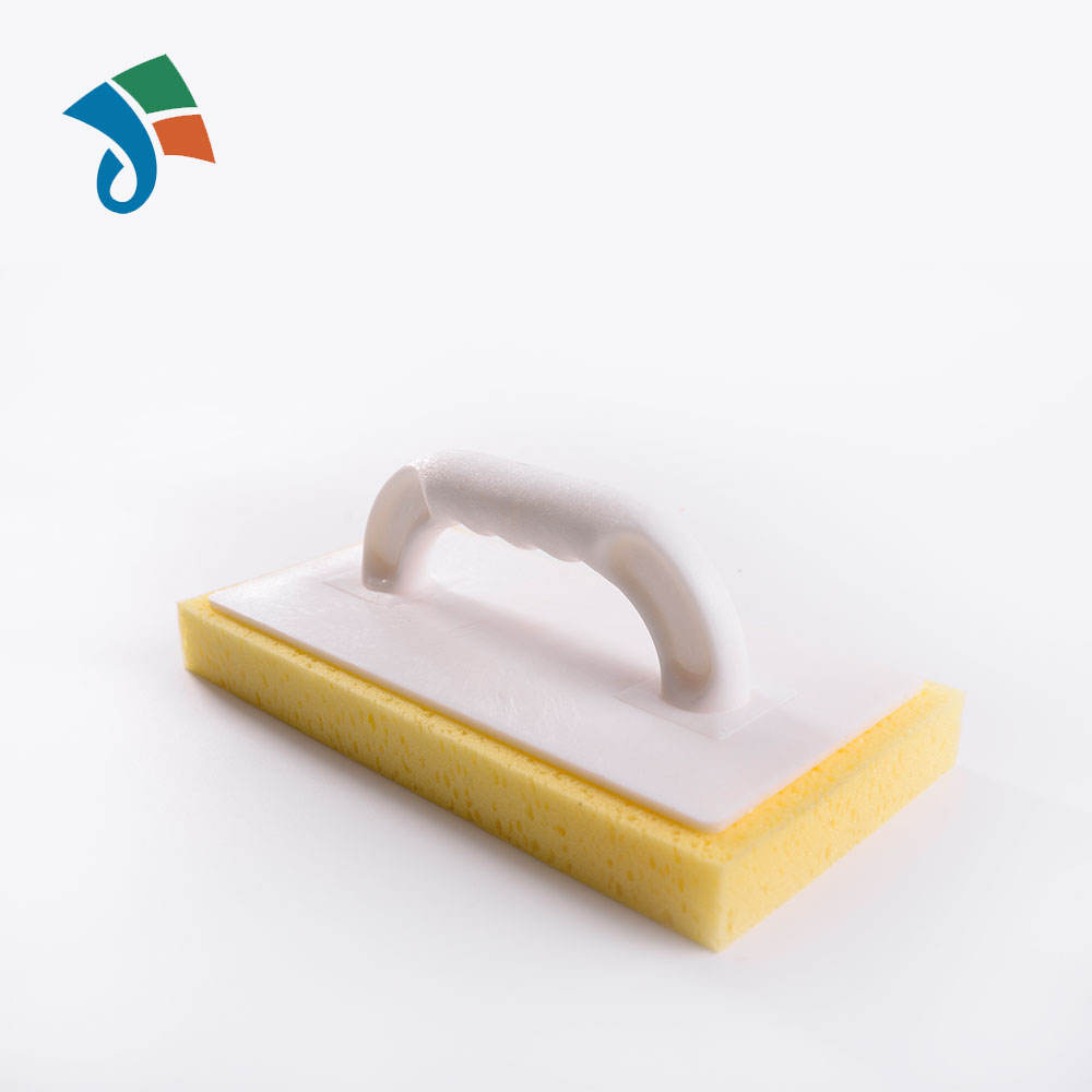 230X100mm Rubber Float Sponge Wooden Handle Grout Grouting Squeegee Plasterer