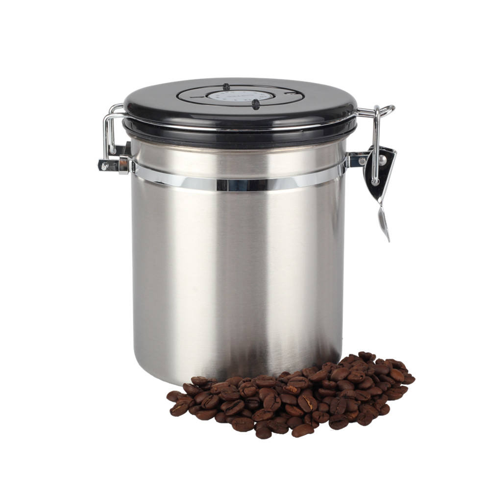 Coffee-Storage Caniste -Stainless-Steel Coffee Bean coffee canister vacuum 12OZ/16OZ/22OZ