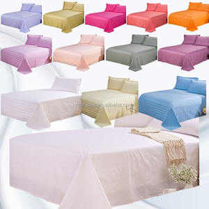 Colorful bed/ flat sheet, All size hotel bedding sheet set, hotel bed sets
