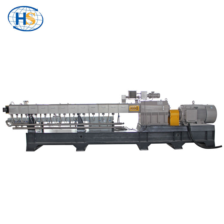 Haisi good quality environmental protection stone paper production line /pe+caco3 filler mater batch twin screw extruder