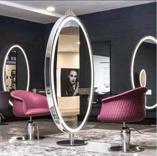 Saloon equipment and furniture barber unit stations styling dressing table hair salon mirror station