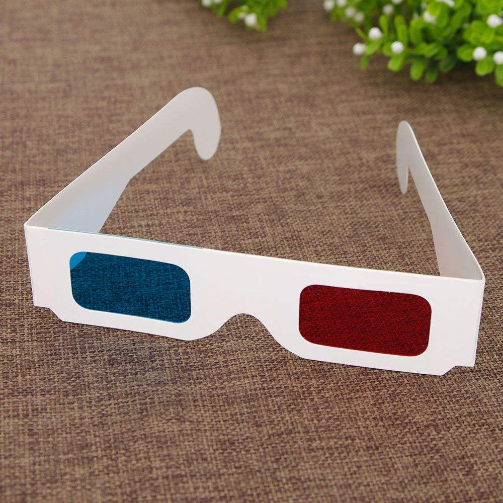 2018 fashion glasses, best-selling 3D movie paper glasses
