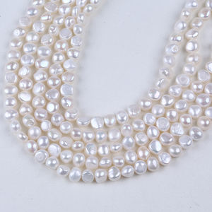 Natural 9-10mm baroque pearl bead string