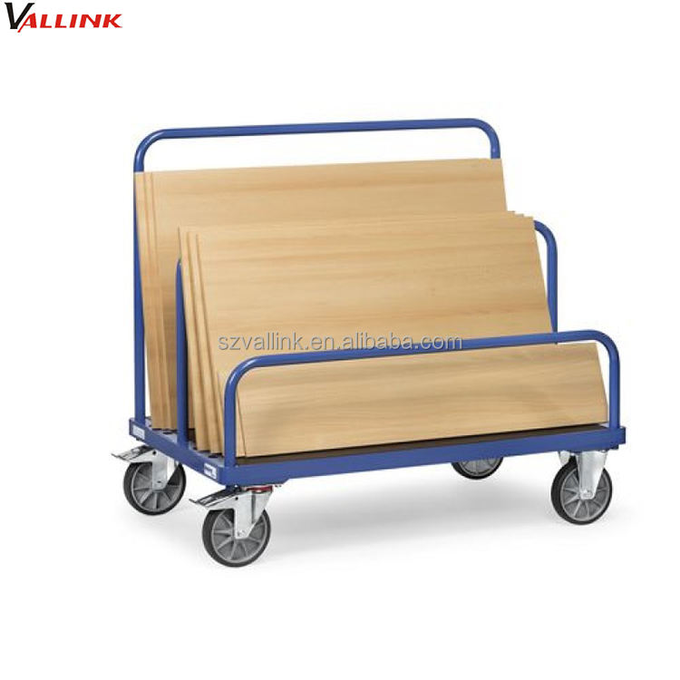 Warehouse Rolling Panel Material Moving Drywall Cart with 4 Wheel