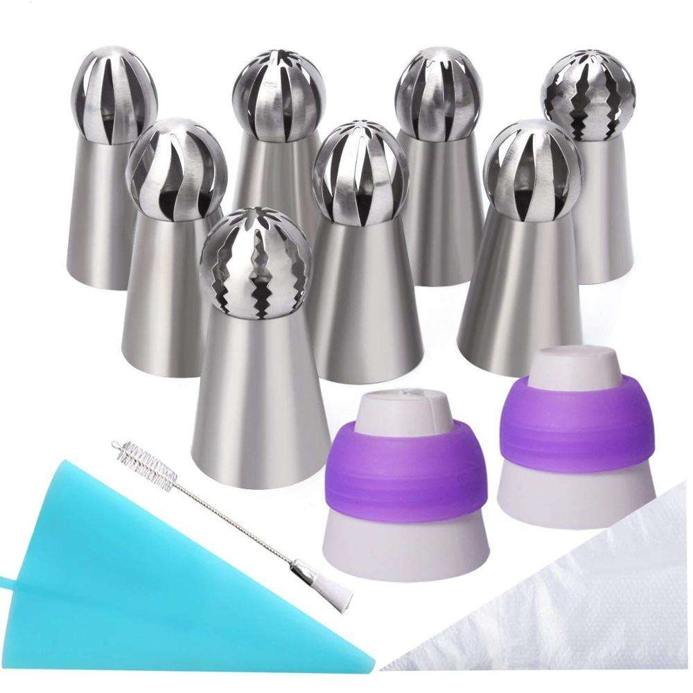 Cupcake Cake Decorating Icing Tips 22 Pcs Stainless Steel Russian Piping Tips Set