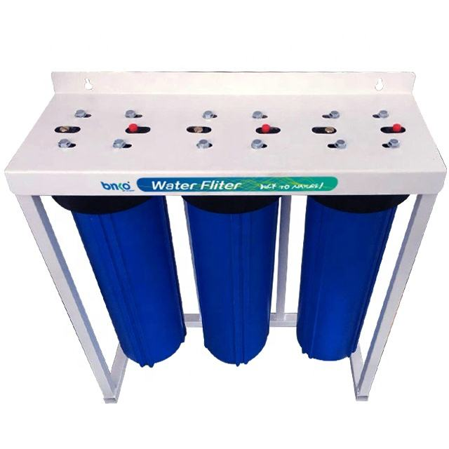 20 inch 3 stage big blue water filter plant met jumbo filter behuizing