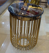 hot sale stainless steel tea table living room furniture metal coffee table