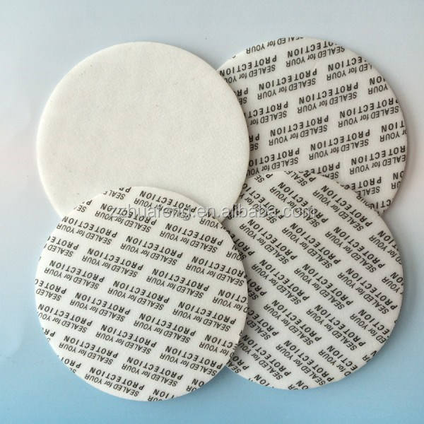 Sealed for your protection logo bottle cap seal liner