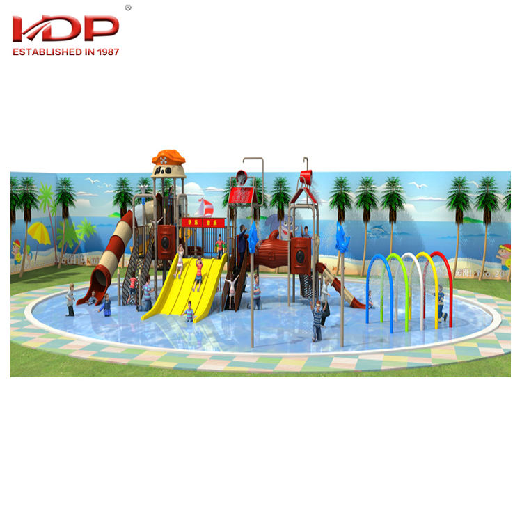 Large Plastic Pool Water Play Equipment Kids Park Water Slide for Swimming Pool