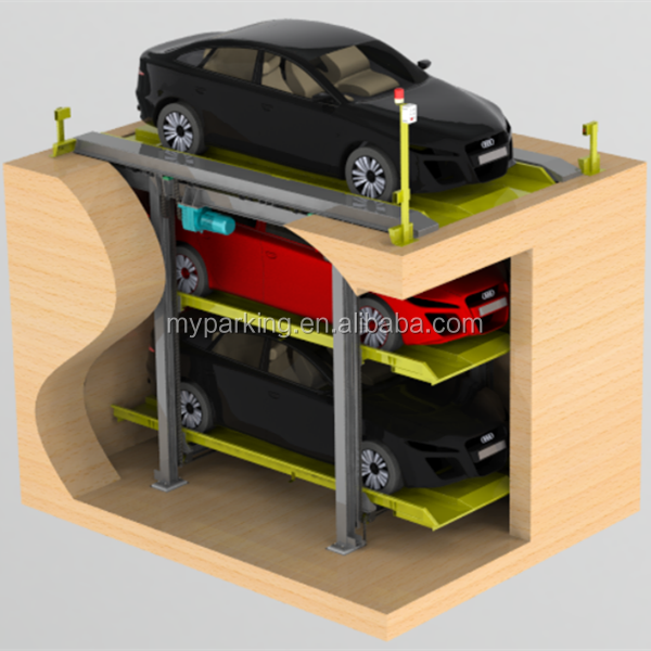 Automatic PSH multi-level mechanical car parking system/3 layer car storage/multilevel steel parking
