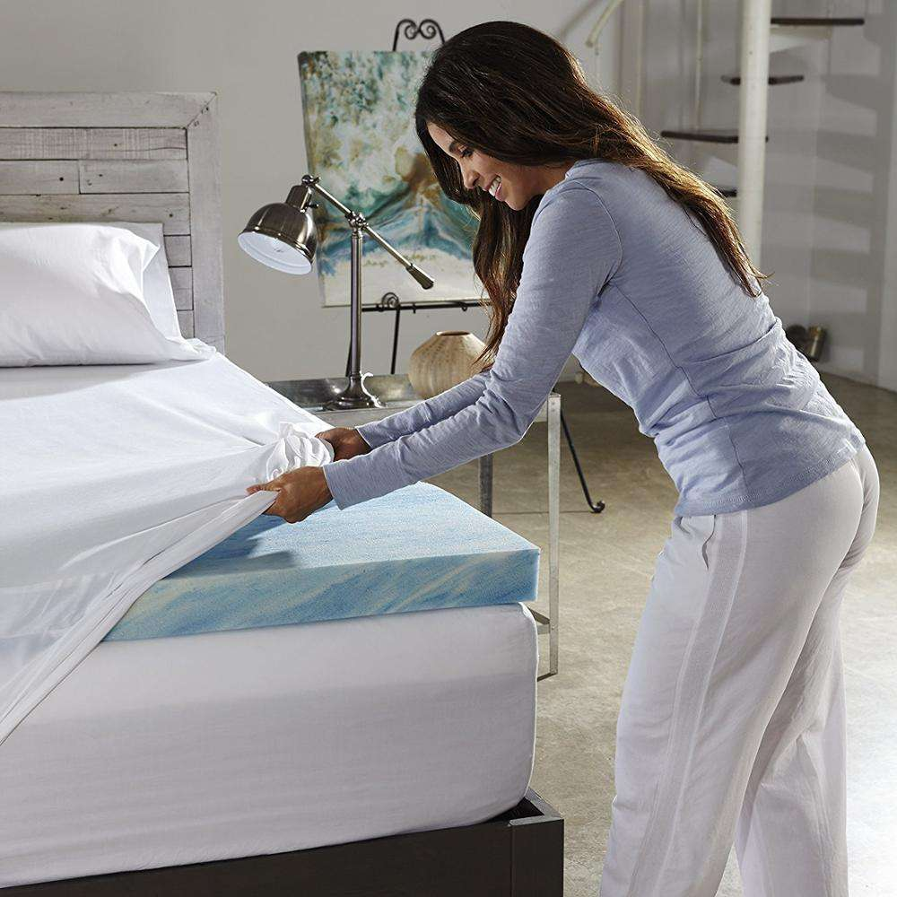 Ultra - Premium Gel Infused Folding Memory Foam Mattress / Bed Topper / Pad for a Cool, Conforming, and Comfortable Sleep