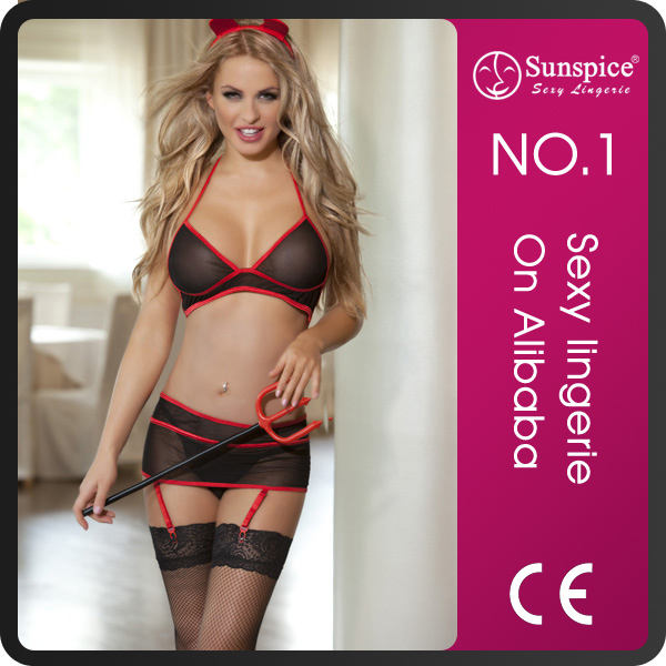 Sunspice <span class=keywords><strong>China</strong></span> Fabricage Top Sale Naked Sexy Dames Angel <span class=keywords><strong>Meisje</strong></span> Duivel <span class=keywords><strong>Meisje</strong></span> B Met Garter Belt En Vork.