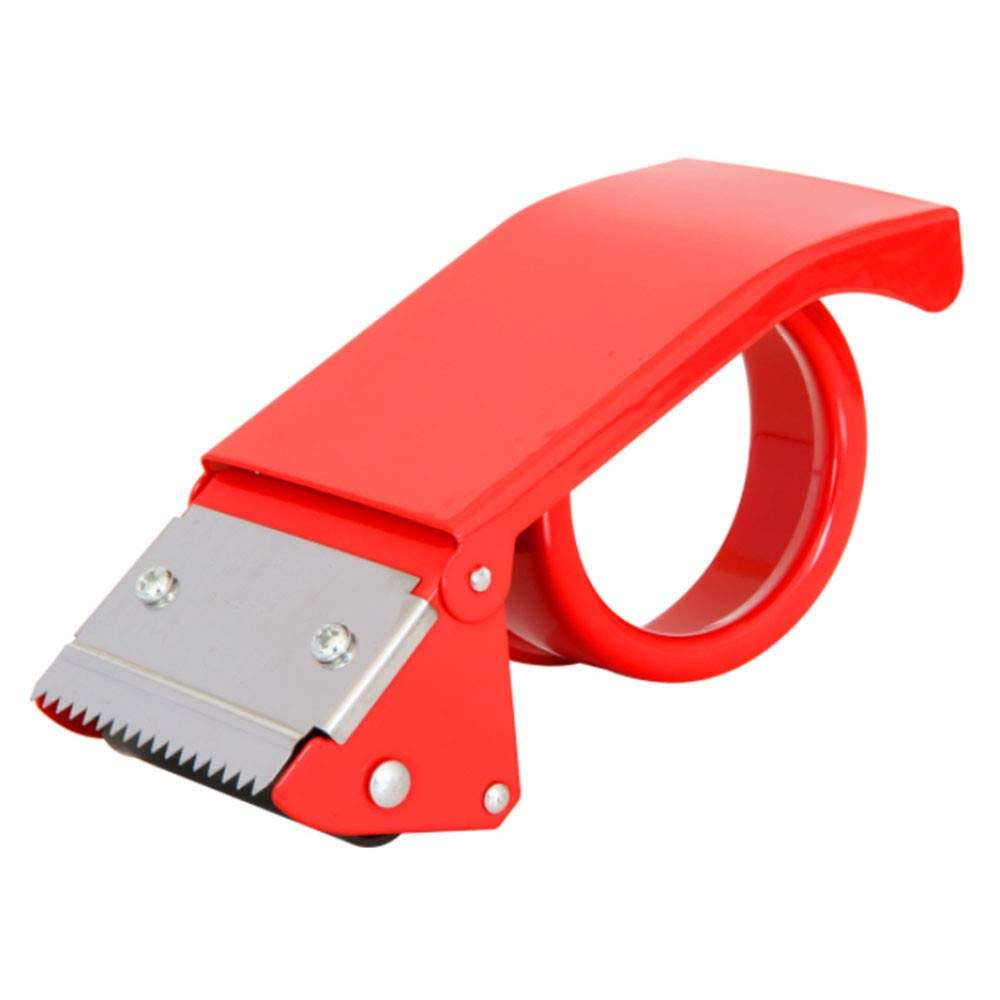 2 Inch red Package Tape Dispenser Handhold Roll Tape Holder Cutting Tool for Office  Warehouse  Home  School Box Sealing