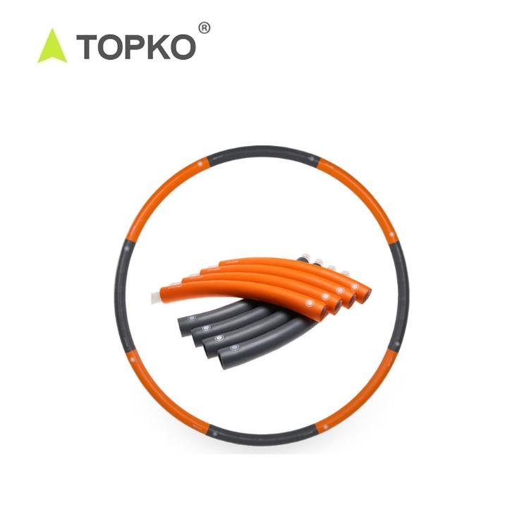 TOPKO wholesale Gym Fitness Plastic ring Flat Hula fitness ring for adults