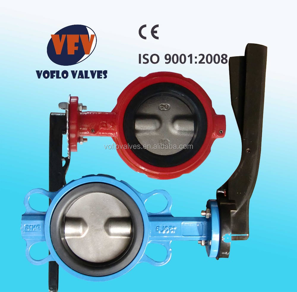 "Class150 Ductile Iron Body SS420 Stem 4 "" wafter butterfly valve suited for heating ventilation"