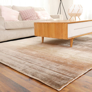 Plain Modern Luxury Soft Banana Silk Fiber Chinese Hand Knotted Rugs