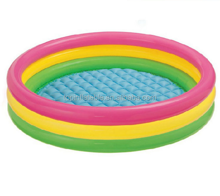 Pink,blue,green color choice and 75x75x38 cm or custom size size product size inflatable child & kids swimming pool