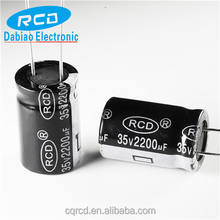 Original electronics Aluminum electrolytic capacitor 35v 2200uf CD81