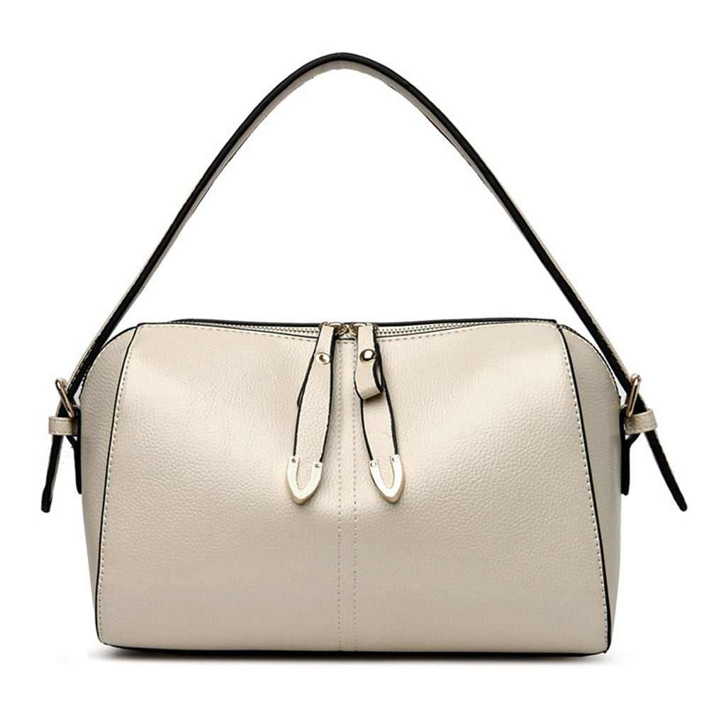 Simple Atmosphere Embossed Crossbody Middle-Aged Bag