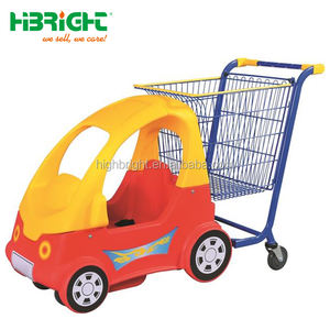 Supermarket Metal Kiddie Shopping Cart with Plastic Front Car