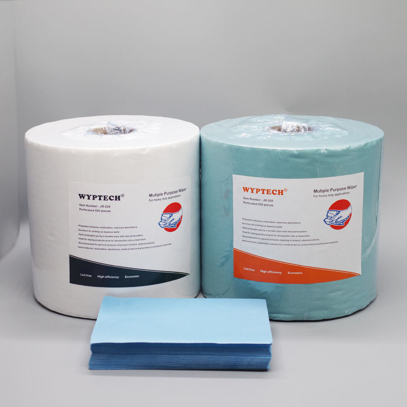 Polyester Cellulose Blend Jumbo Roll Wipe Vlies Jumbo Roll Wipes Perforiertes Blatt 500 Stück A Rolle