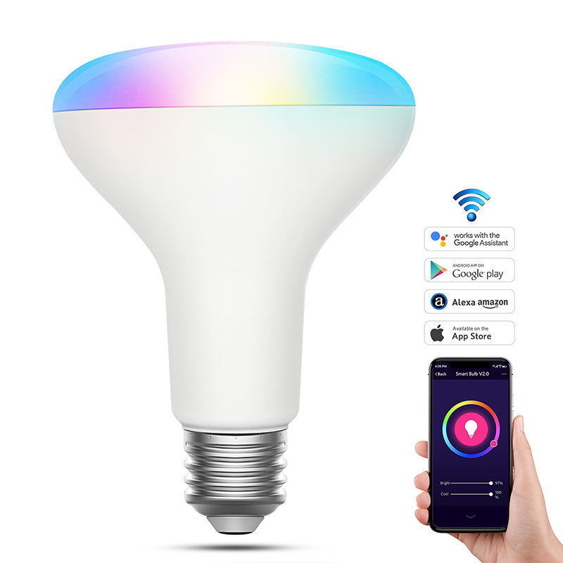 Grote Power 13W Smart Wifi Led Verlichting Lamp Amazon Alexa Wifi Remote Contral Smart Led Lamp Led Lamp E27 rgb Cw En Ww