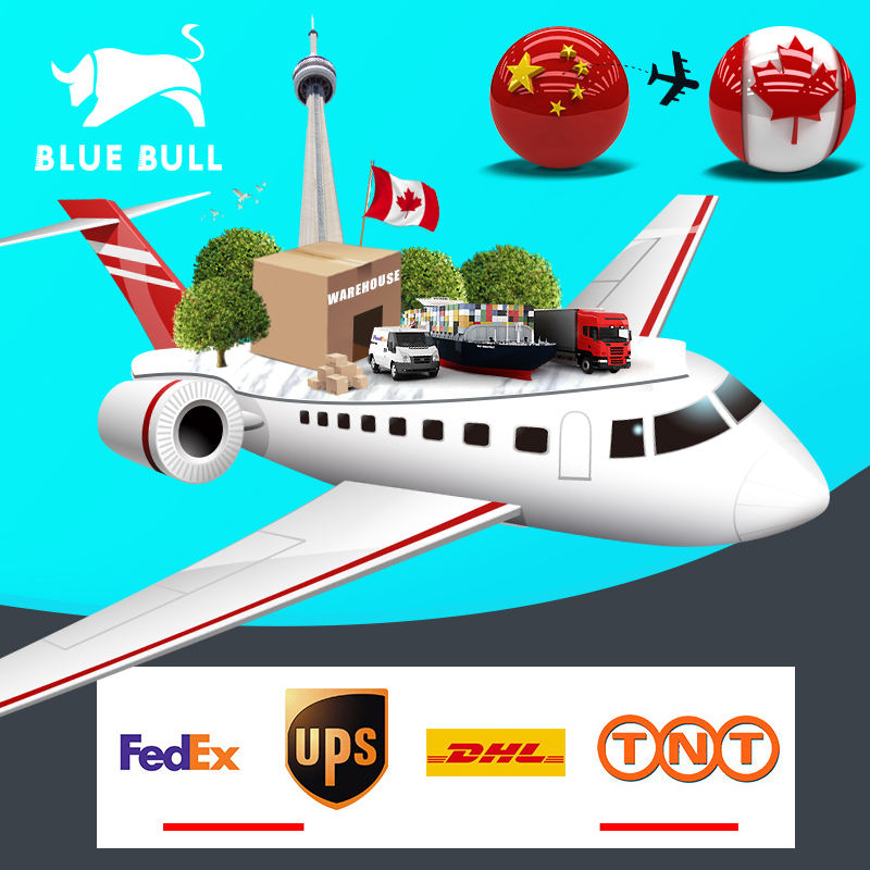 DHL UPS TNT FedEx door to door delivery service international air freight rates China shipping agent to Canada
