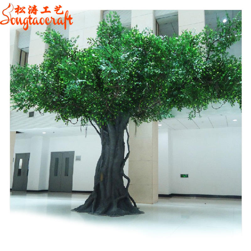 Wholesale Big Ficus Bonsai Artificial Banyan Tree For Home Decoration