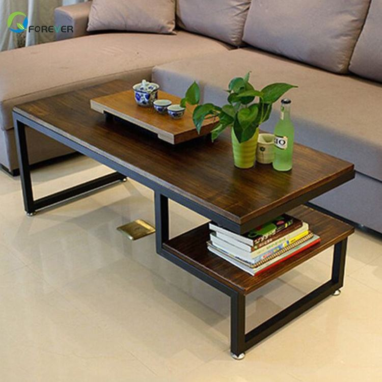Leisure Wrought Iron Tea Table Industrial Coffee Table Side Table
