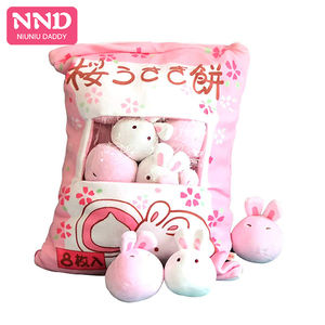 Niuniu Daddy Mini Plush Animal Toy Stuffed Snack Pillow Unicorn Dinosaur Rabbit High Quality Kids Christmas 5Style For Baby Gift