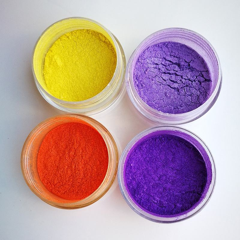 Violet rich purple yellow orange pearl luster pigment powder for coating printing