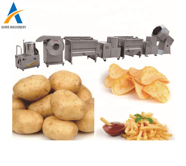 Industrial Banana crisps french fries making machines production line