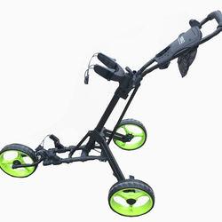 Wholesales 3 wheels aluminum push golf trolley