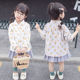 Children's shirt 2019 spring girl art small fresh apple shirt korean version of children cotton hemp jacquard shirt