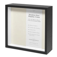 Art Black Wooden Shadow Box Frame With Custom Size