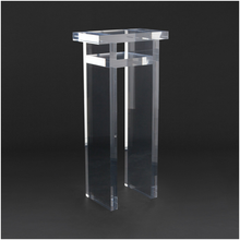 Clear Acrylic Pedestal Display, Flower Vase Tall Pedestal