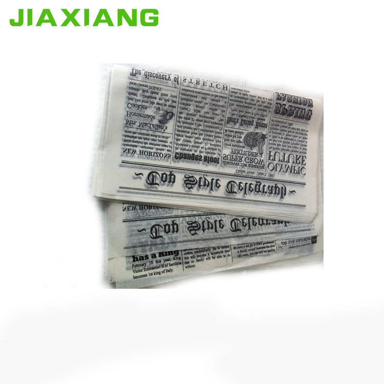 custom design waxed paper food wrappers for hamburger or sandwich