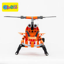 New toys 2019 funny learning and education building block mini helicopter for kids