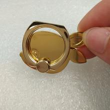 Custom gold plated mobile 360 degree rotate phone ring stand holder