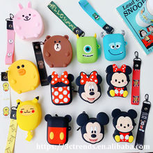 silicone Minnie coin purse female cute cartoon children's wallet girls boys card pack kids Mickey bears save money bag ladies