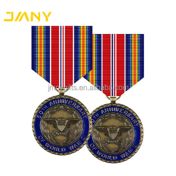 Custom Made World War II 50th Anniversary Commemorative world war one Medals