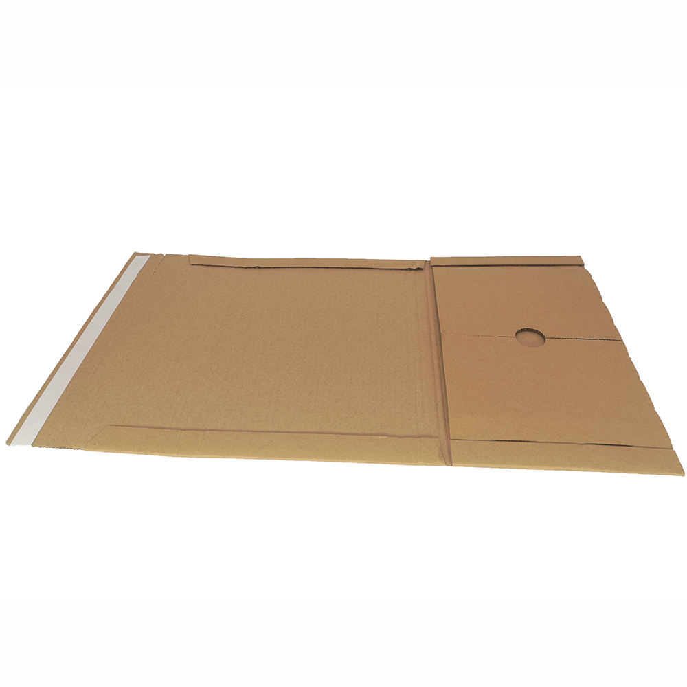 Eco-Friendly Easy To Tear Corrugated Cardboard Book Wrap Mailer